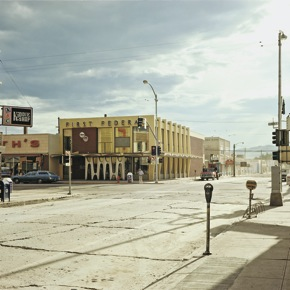 "New Yorker art by Stephen Shore: ""2nd Street East & South Main Street, Kalispell, Montana"""