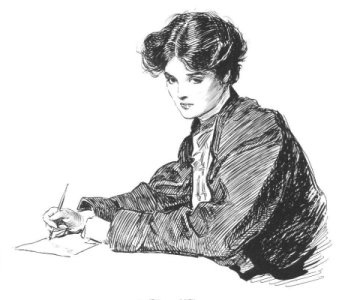 """""""Yes or No"""" by Charles Dana Gibson, 1905"""