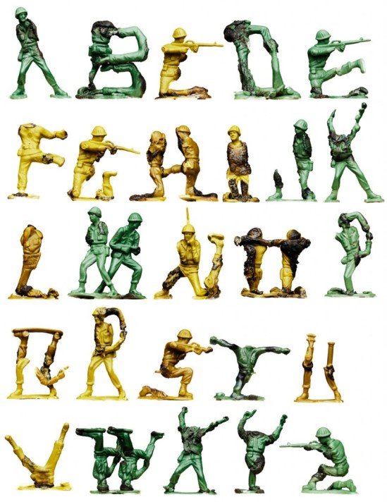 """""""Fire in the Hole"""" - a 3D alphabet by Oliver Munday"""