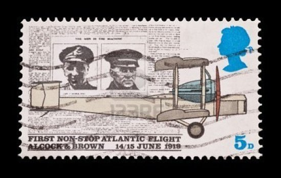 British commemorative of Alcock & Brown's flight