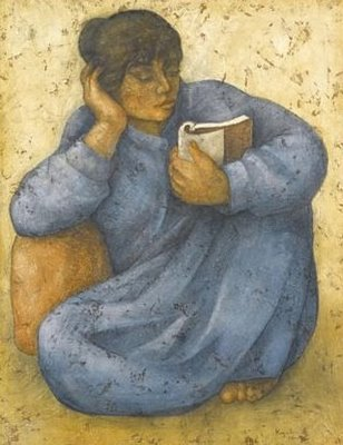"Louai Kayyali, ""Woman Reading"""