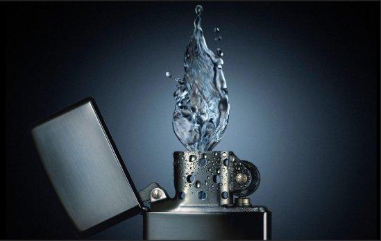 """Art by Leo Vilela: """"Water Flame"""""""