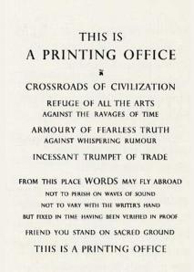 Beatrice Warde's manifesto