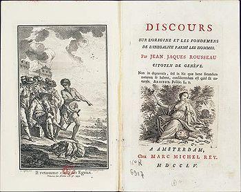 Rousseau - Page de garde de l'édition (Amsterdam, Marc Michel Rey, 1755)