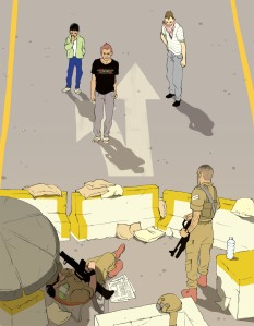 New Yorker art by Tomer Hanuka