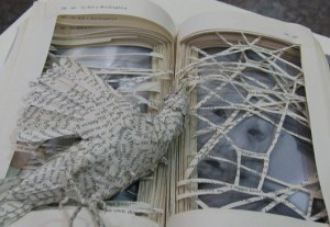 Sculpture by Sarah Lovett - Censorship into Art: Banned Books Display