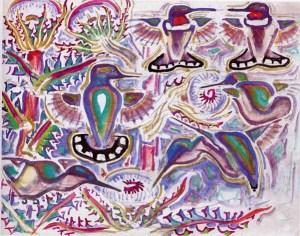 """Walter Inglis Anderson: """"Hummingbirds"""""""