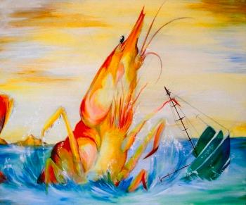 """Shrimp Attack"" by Kerstlin Arvesen - yes that is really what she titled it!"