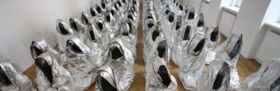 "Kader Attia: ""Ghost"" (2008). Now that's how you get creative with foil."