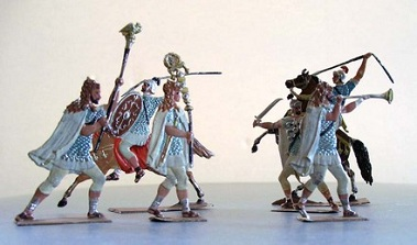 Roman Tin Soldiers from The Vergil Collection in the Princeton University Library