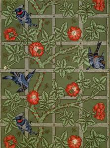 """Trellis"" wallpaper design by William Morris, 1862"