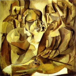 "Marcel Duchamp, ""Portrait of Chess Players,"" 1911"