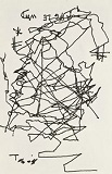 Borges drew this self-portrait - after he went blind - for Burt Britton