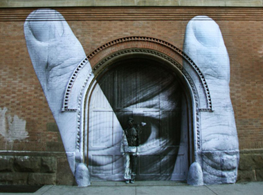 "Collaboration by Liu Bolin (""The Invisible Man"") and French artist JR"