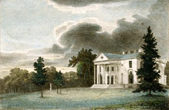 "William Birch, ""The Woodlands Seat of Mr. Wm Hamilton"" 1809"