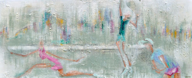 "Art by Simon Brushfield: ""Tennis in the Skyline"", 2012"