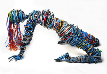 """Connected"" : sculpture by Kasey McMahon"