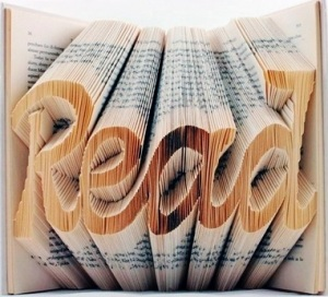 Folded-book art by Isaac Salazar