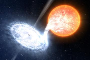 Luís Calçada: Binary Black Hole (illustration)