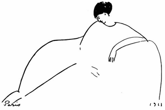 Modigliani sketch of Anna Akhmatova (1911)