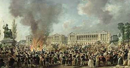 Pierre-Antoine Demachy: 'Celebration of Unity,  Destroying the emblems of monarchy,'  Place de la Concorde, 10 August 1793