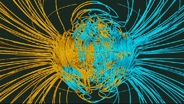 Glatzmaier-Roberts model of magnetic field reversal