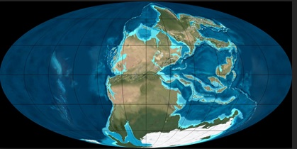 Where we'd be living if nothing had progressed in the past 250 million years.