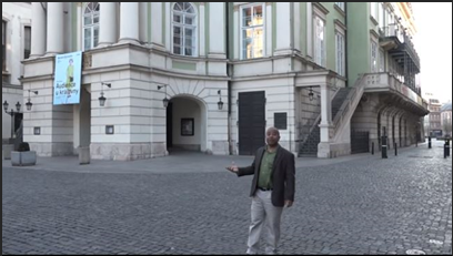 Dr. Swayne lectures from the Estates Theatre in Prague, where Mozart's Don Giovanni premiered