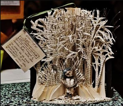 """Lost (albeit in a good book)"" – anonymous Scottish bookartist"