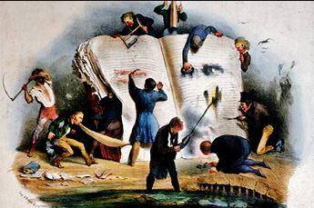 """Charles Joseph Travies de Villiers: """"La Critique"""" (c. 1830)"""