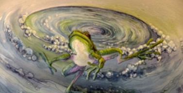 "Art by Annemeike Mein: ""Whirlpool Frog"""