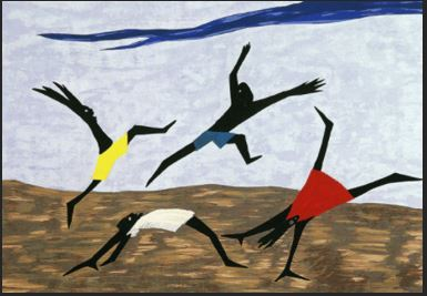 Jacob Lawrence: Harriet Tubman series, panel 4, 1940