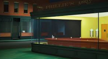 "Pandemic Art: Variation on Edward Hopper's ""Nighthawks"" (originator unknown)"
